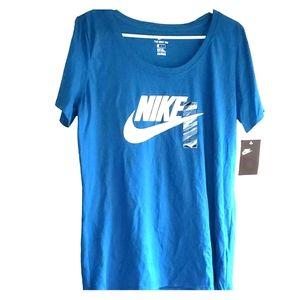 Teal & White - •NIKE•| 'The Nike Tee' Athletic Tee